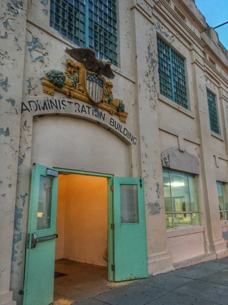 Entrance to the Administration Building at Alcatraz