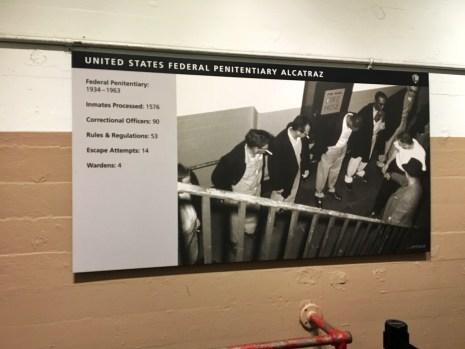 Sign with statistics at Alcatraz