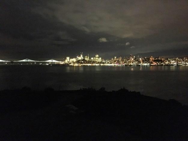 View of San Francisco at night from Alcatraz
