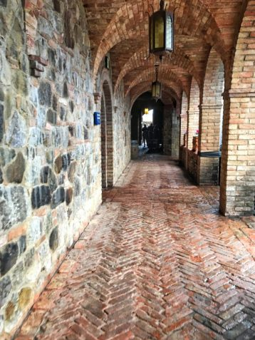 Hallway inside Castello di Amorosa in Napa California