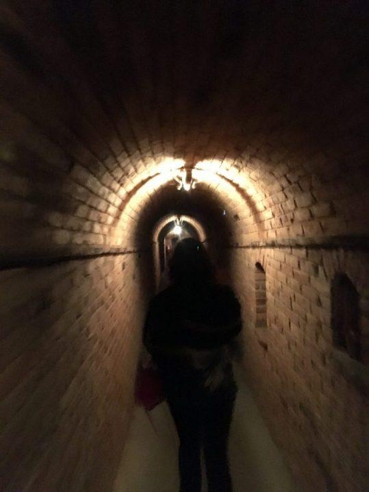 One of the wine cellars Inside Castello di Amorosa in Napa California