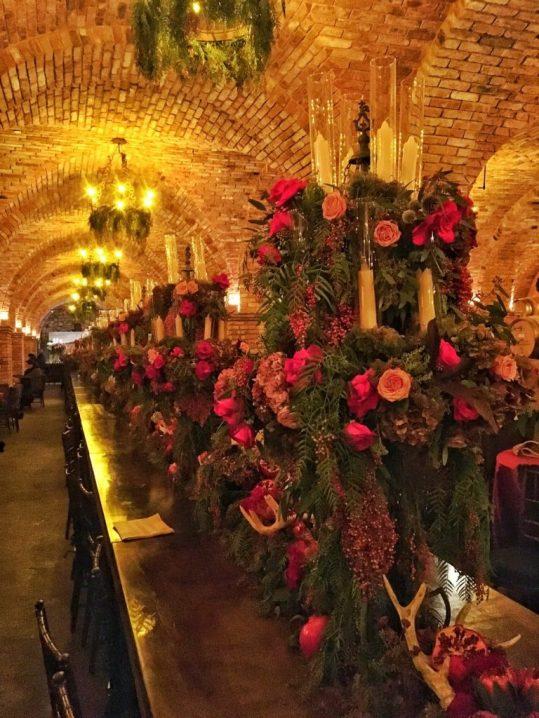 Flower arrangements at Castello di Amorosa in Napa California