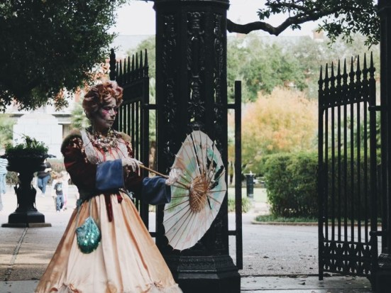 Street performer in New Orleans Louisiana