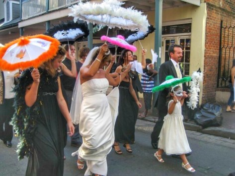 Second line in New Orleans Louisiana