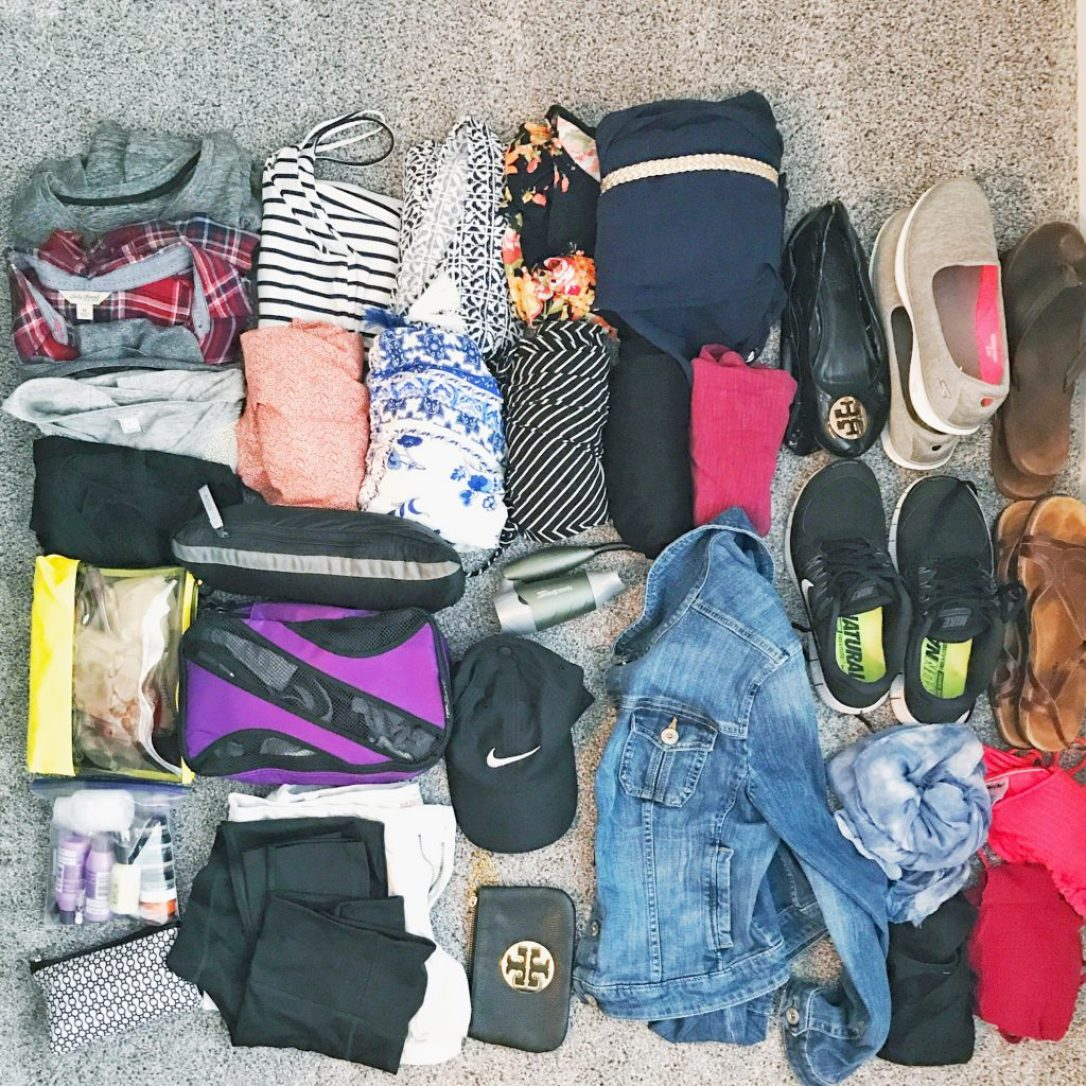Everything I fit inside my backpack