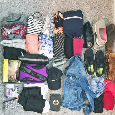 The items I brought to Europe packing light