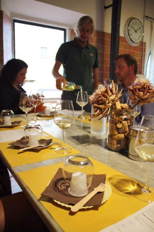 Wine tasting at Corzano E Paterno in Chianti Italy