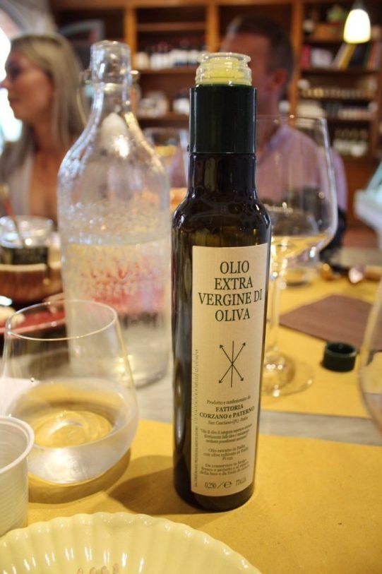 Olive oil from the Wine tasting at Corzano E Paterno in Chianti Italy