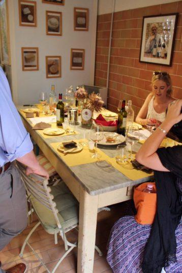 Wine tasting at Corzano E Paterno in Tuscany Italy