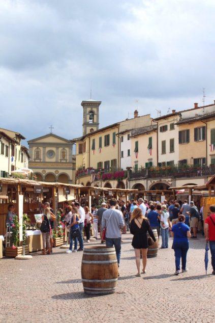 Chianti wine festival in Tuscany Italy