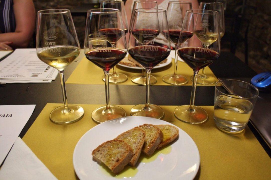 Wine tasting at Villa Calcinaia Winery in Tuscany Italy