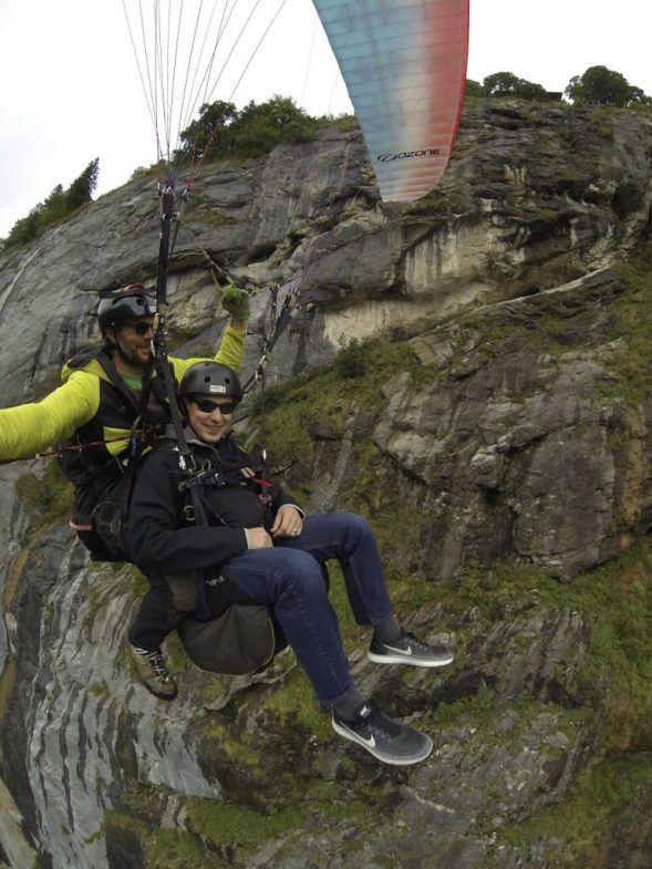 Paragliding in the Swiss Alps