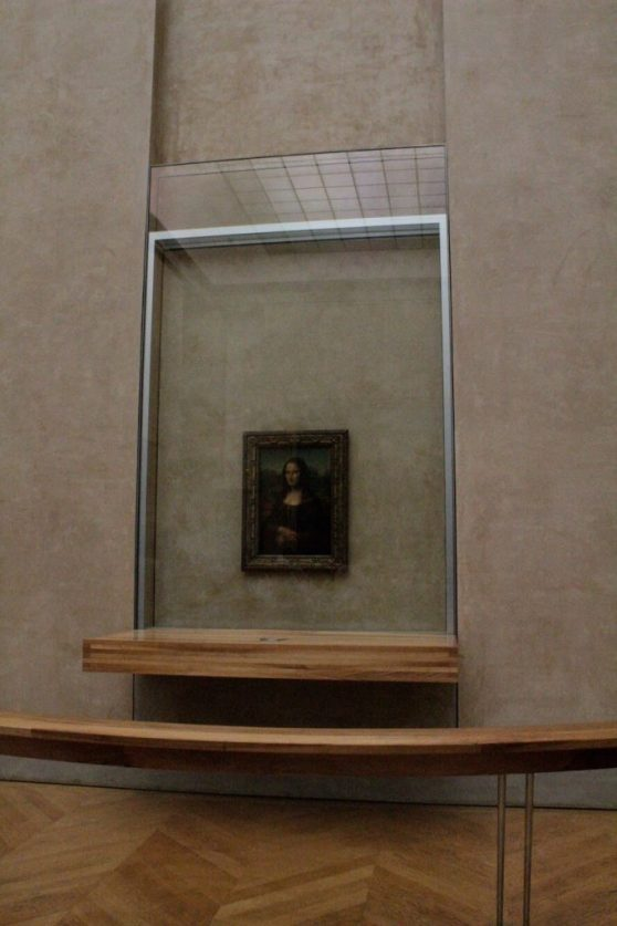 The Mona Lisa at the Louvre in Paris France
