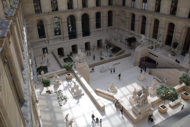 Atrium in the Louvre Museum in Paris France