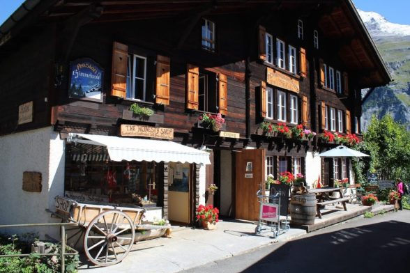 Honest shop in Gimmelwald Switzerland
