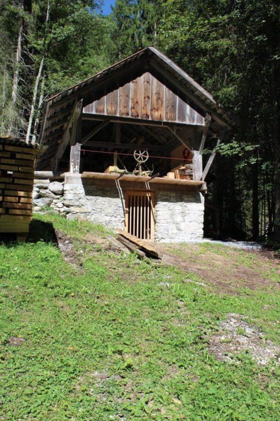 Old Sawmill in Gimmelwald Switzerland