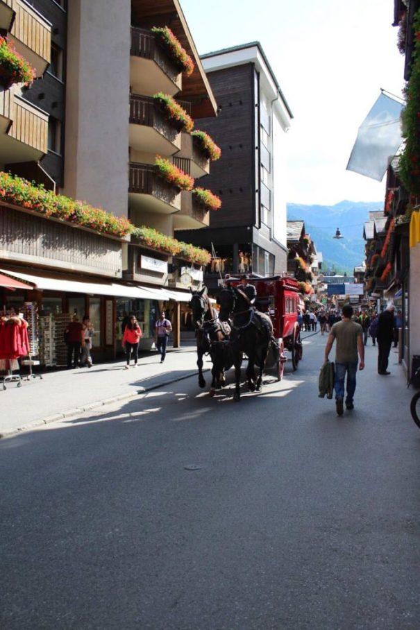 Horse-drawn carriage in Zermatt, Switzerland
