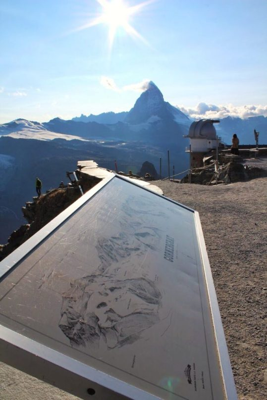 View of the Matterhorn at the Gornergrat in Zermatt, Switzerland
