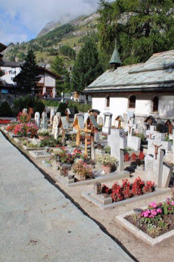 Mountaineer cemetery in Zermatt, Switzerland