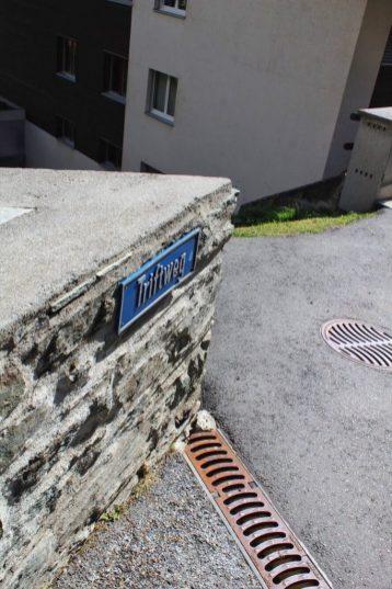 Trail sign in Zermatt, Switzerland
