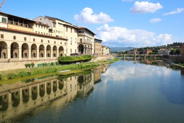 The Arno River in Florence Italy