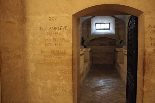 Inside the crypt of the Pantheon in Paris France