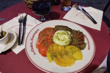 Dinner in Montmartre in Paris France