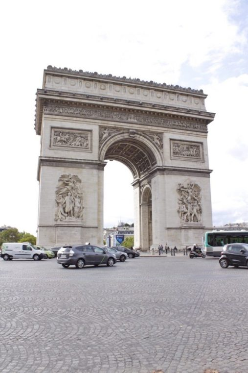 Arc du Triomphe in Paris France