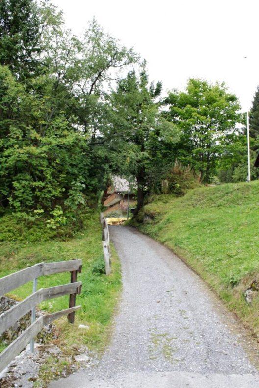 Trail from Murren Switzerland to Winteregg