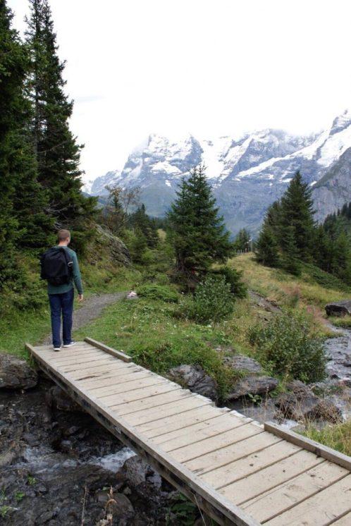 Hiking the Trail from Murren to Winteregg Switzerland
