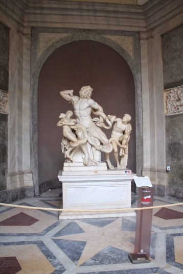 Sculpture at the Vatican museum in Rome Italy