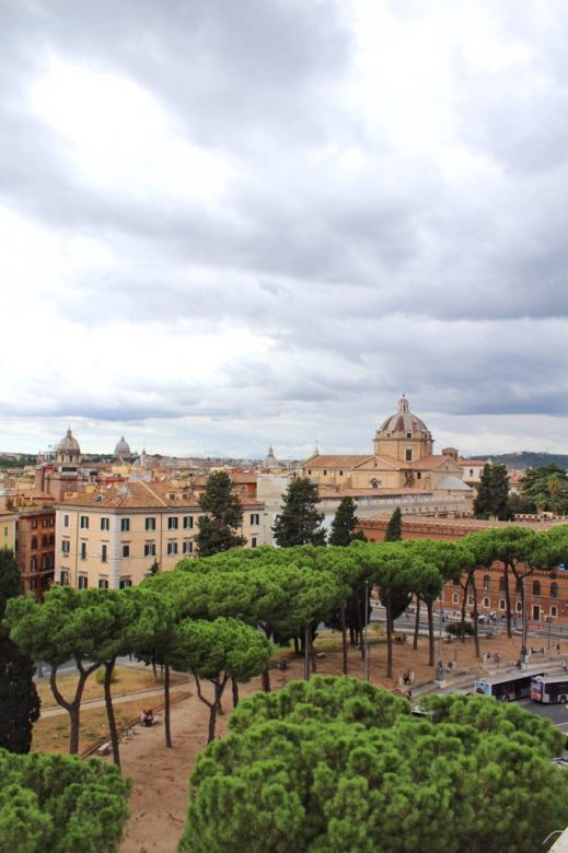 View from the Altare della Patria in Rome Italy