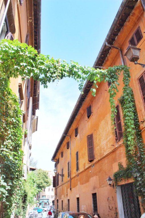 Trastevere neighborhood in Rome Italy
