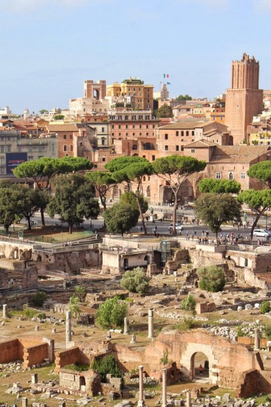 View from Palatine Hill in Rome Italy
