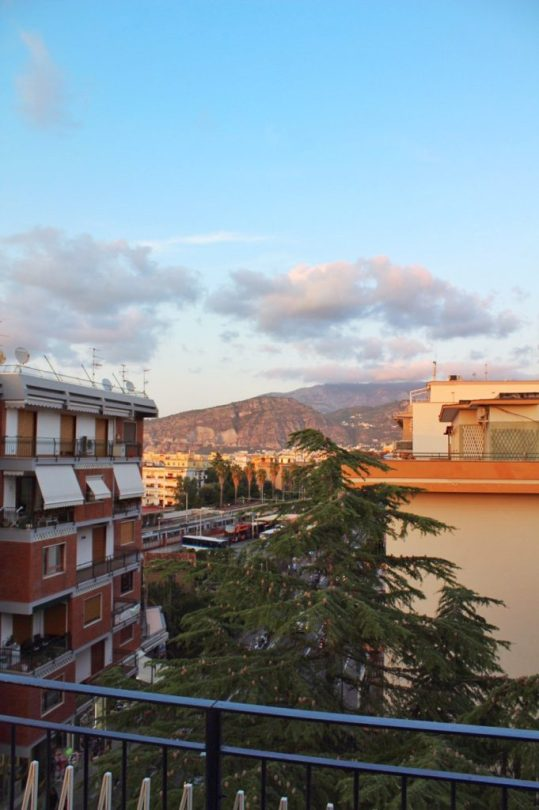 View from our bed and breakfast in Sorrento Italy