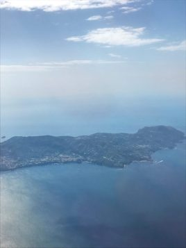 View of Greek islands from the easyjet plane