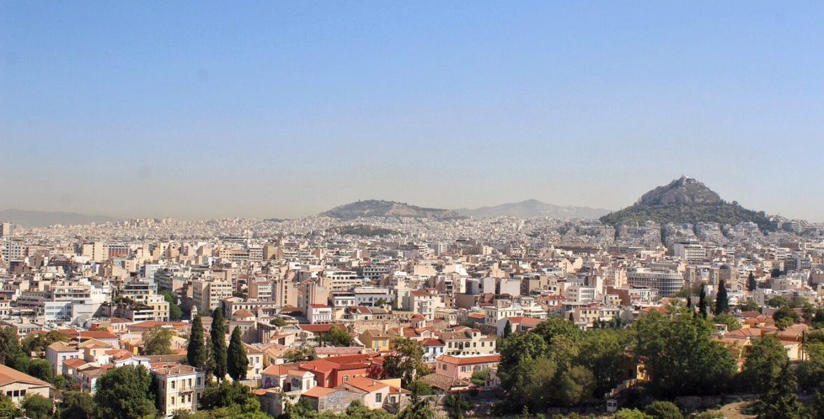 View from the Acropolis in Athens, Greece