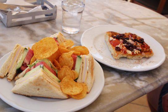 Lunch in Oia Santorini