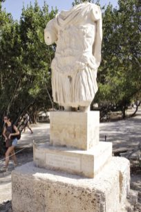 Statue at Ancient Agora Athens Greece