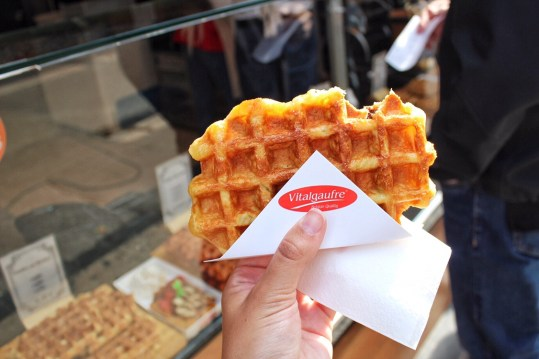 Liege waffle from Vital Gaufre in Brussels, Beligum