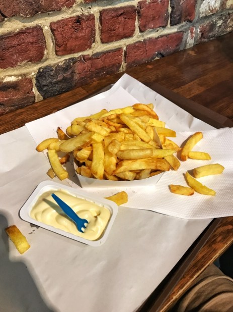 Fries from Fritland in Brussels, Belgium