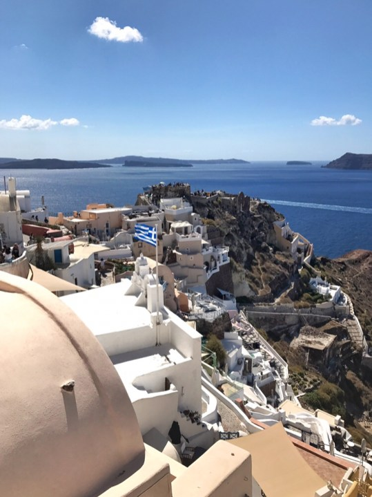 View of the caldera in Oia Santorini