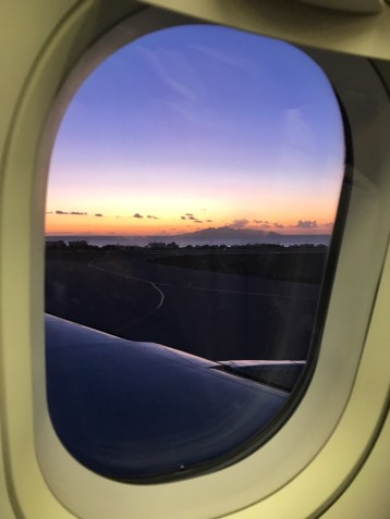 View from plane leaving Santorini