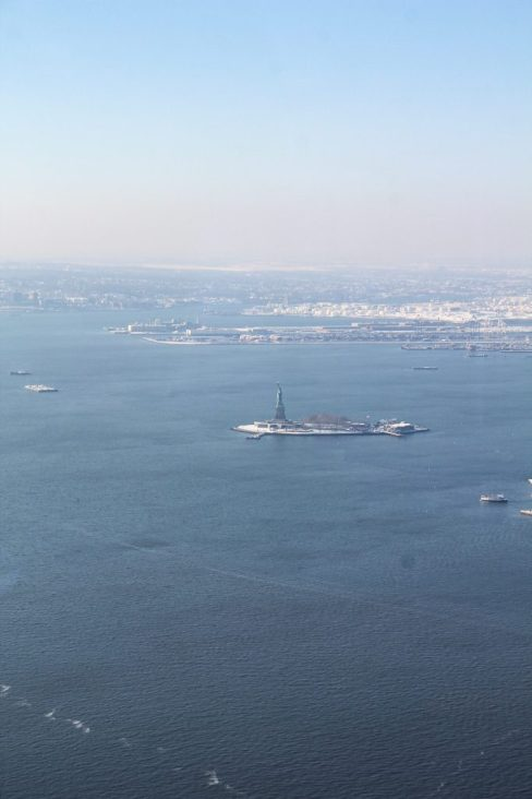 View of the Statue of Liberty from One World Observatory