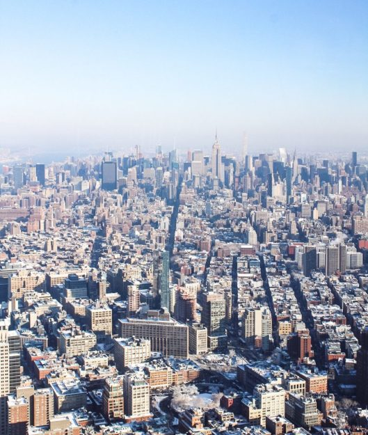 View of New York City from One World Observatory