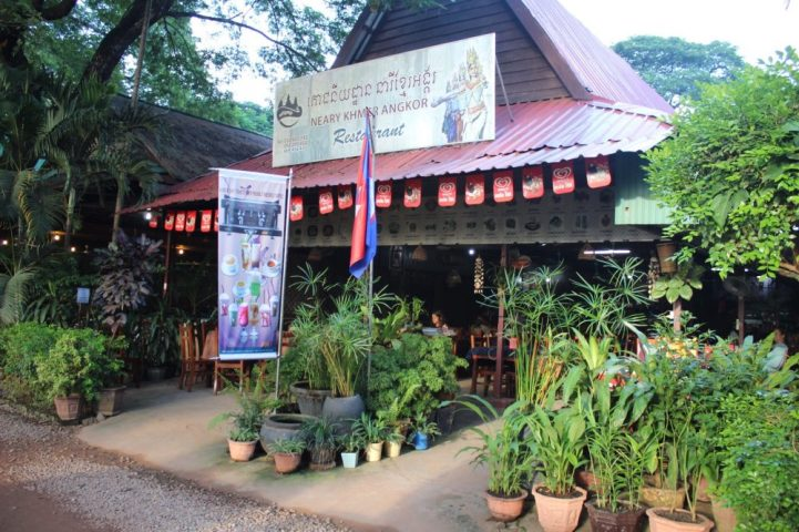 The small cafe near Angkor Wat