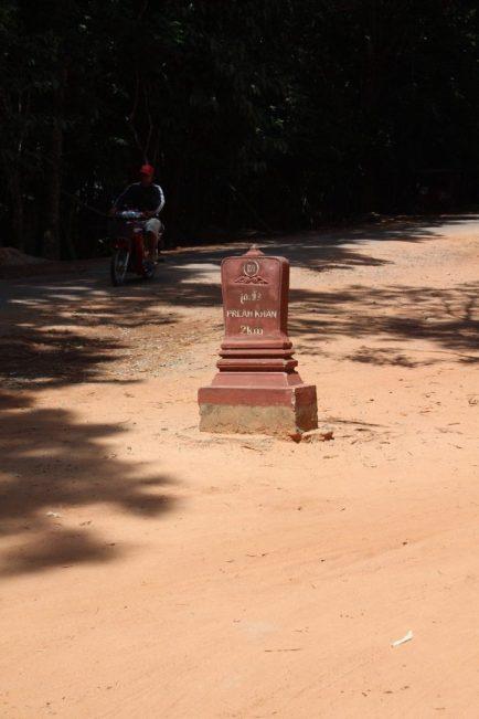 Not a gravestone, a km marker!