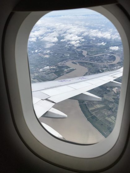 View of Bangkok from the plane