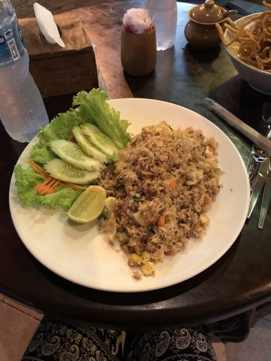Fried Rice at Kat's Kitchen in Chiang Mai, Thailand