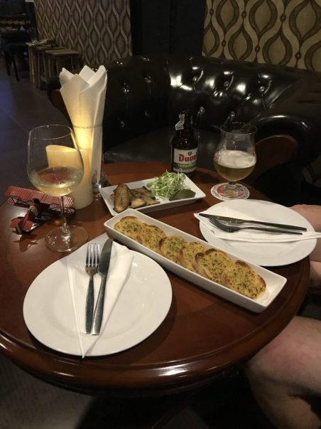 Drinks and tapas at Flight 52 restaurant in Chiang Mai Thailand